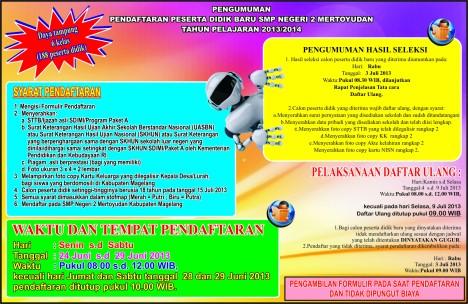 PENGUMUMAN PPDP TAHUN PELAJARAN 2013/2014